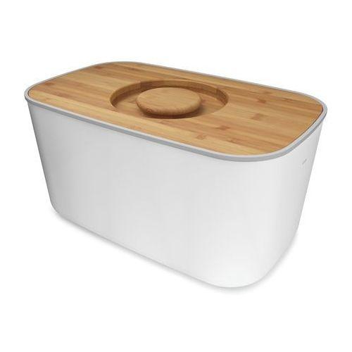 Chlebak z bambusową deską Joseph Joseph biały