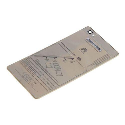 Oryginalna klapka baterii p8 lite grade a złota marki Huawei