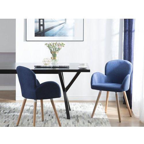 Zestaw do jadalni 2 krzesła niebieskie BROOKVILLE