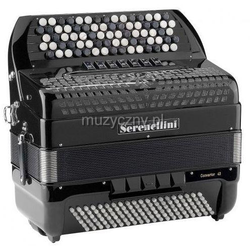 443 cr cassotto (2+1) 44(77)/3/7 120/5(f/n-2)/3 akordeon guzikowy z konwertorem (czarny) marki Serenellini