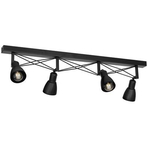 Luminex gordon 1422 plafon lampa sufitowa 4x60w e27 czarny (5907565914221)