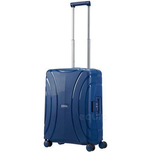 Walizka kabinowa lock'n'roll + gratis poduszka podróżna - nocturne blue marki American tourister
