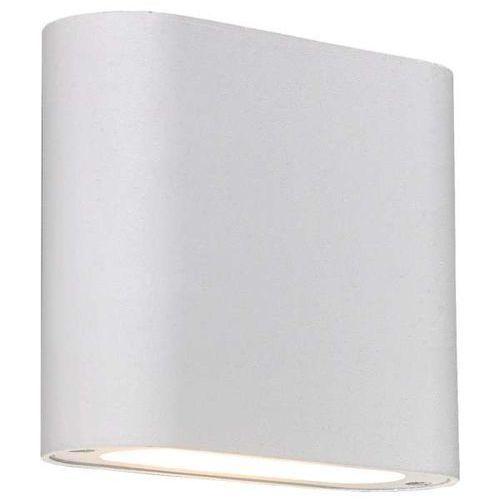 Light prestige Lampa ścienna sapri lp-1556/1w wh prostokątna oprawa kinkiet led 6w metalowy biały