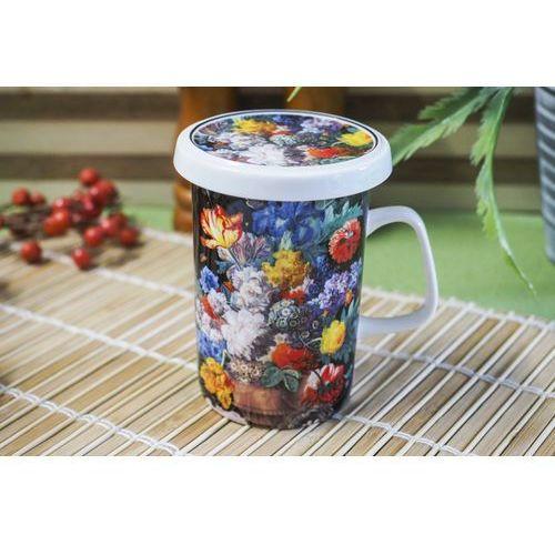 bukiet porcelanowy kubek z zaparzaczem 320 ml marki Duo