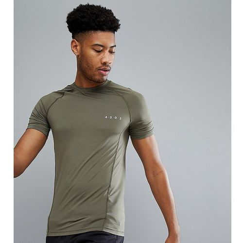 ASOS 4505 TALL Muscle T-Shirt With Quick Dry In Khaki - Green, w 5 rozmiarach