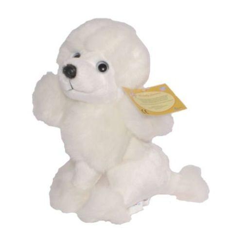 Pies ANEK pluszowy biały 809010 (J62688) - produkt z kategorii- Pozostałe maskotki