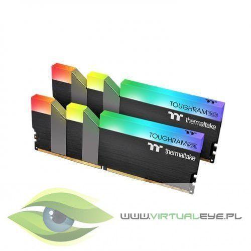 Thermaltake pamięć do PC - DDR4 16GB (2x8GB) ToughRAM RGB 3000MHz CL16 XMP2 Czarna (4713227522052)