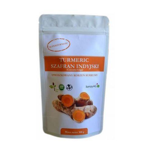 Kurkuma (turmeric) sproszkowany korzeń (curcuma longa) 100g wyprodukowany przez Kenay ag