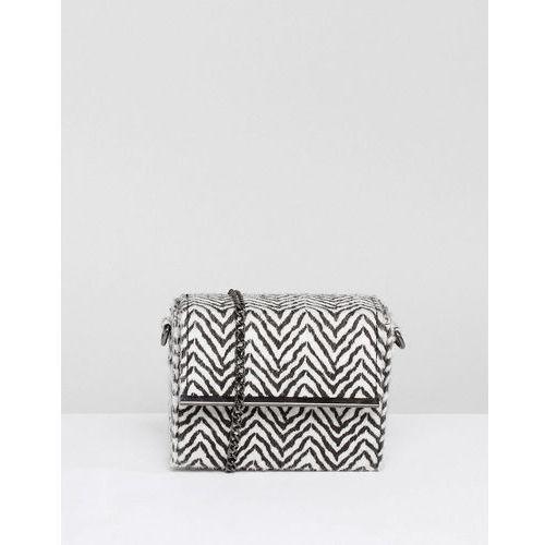 New Look Zebra Cross Body Bag - White