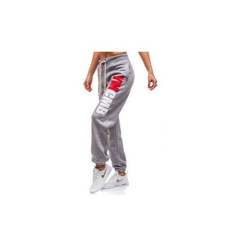 Ymcmb official Spodnie dresowe damskie szare denley 601