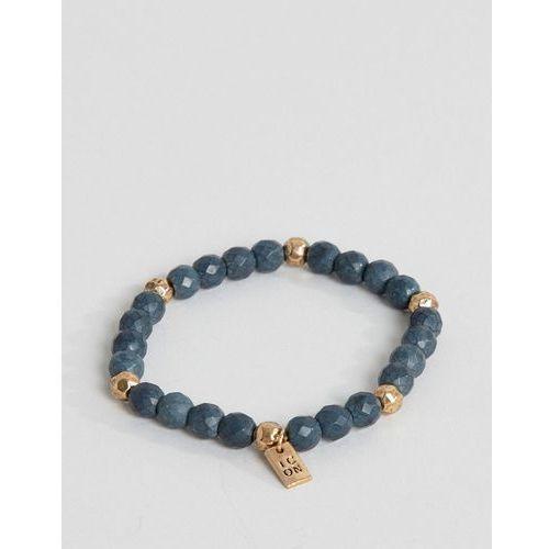 Icon brand navy beaded bracelet - navy