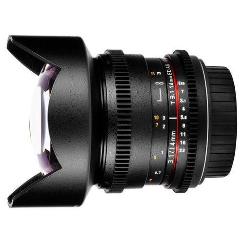 SAMYANG 14 mm T3.1 VDSLR obiektyw mocowanie Sony E (NEX)