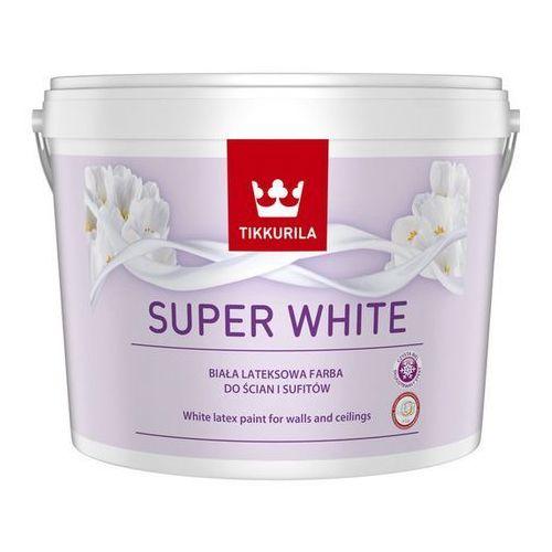 TIKKURILA SUPER WHITE- biała farba lateksowa do wnętrz, 2.5 l, kolor biały