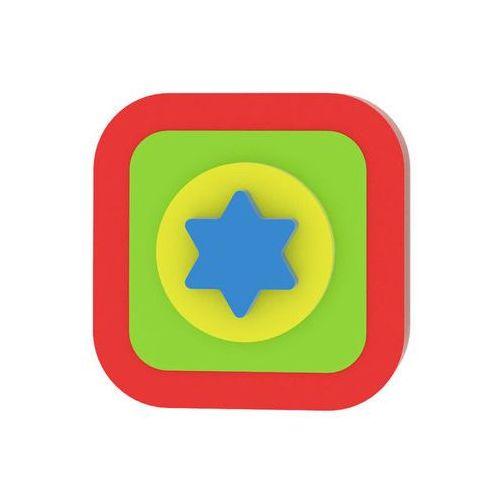 Moje první puzzle - Tvary čtverec/hvězda červená neuveden