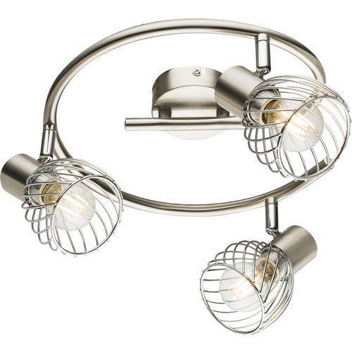 Listwa Globo Texas 54809-3 lampa sufitowa spot 3x40W E14 nikiel mat