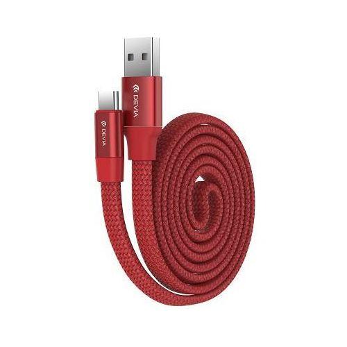 Kabel DEVIA Ring Y1 USB A - USB C Czerwony