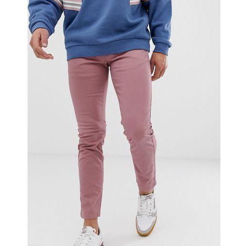 Burton Menswear skinny chinos in pink - Pink