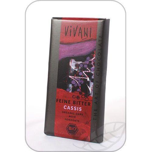 Vivani: czekolada gorzka z nadzieniem z czarnej porzeczki BIO - 100 g