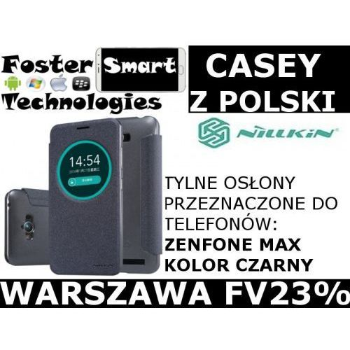 Nillkin CASE KLAPKA ZENFONE MAX BLACK z PL FV23%, 3A31-482A2