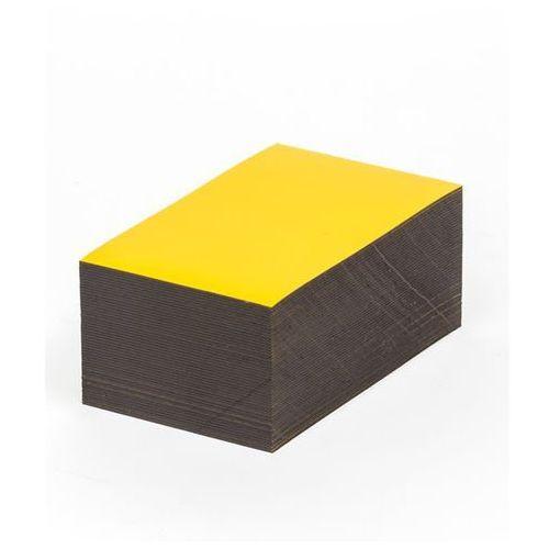 Haas Magnetyczna tablica magazynowa, żółte, wys. x szer. 60x100 mm, opak. 100 szt. za