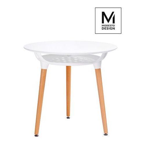 Modesto design Modesto stół hide fi80 biały - blat mdf, podstawa drewniana