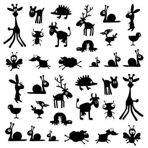 Szabloneria Naklejka dekoracyjna dla dzieci 63 - zwierzaki