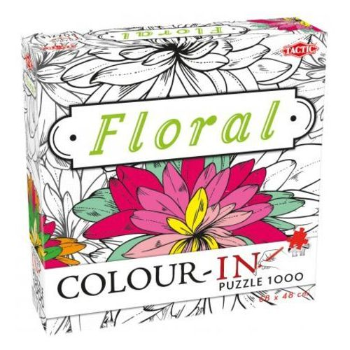 Tactic Puzzle floral color-in do kolorowania 1000 - (6416739542058)