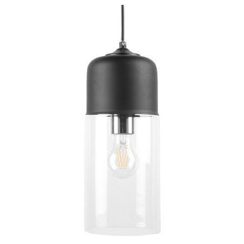 Lampa wisząca ze szkła czarna i przezroczysta PURUS (4260580929573)