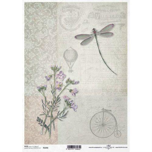 Papier ryżowy 297x210 mm - styl vintage