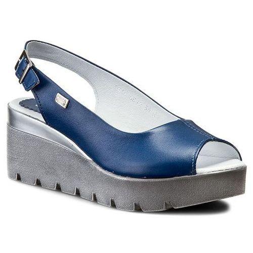 Sandały SIMEN - 6812 Sl.Niebieski, kolor niebieski