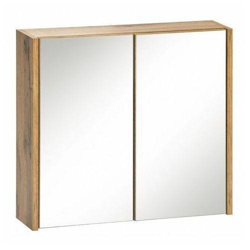 Wisząca szafka łazienkowa z lustrem - Madryt 6X Dąb, IBIZA-DĄB/BIAŁY-840