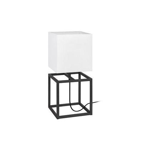 Markslojd Stojąca lampa stołowa cube 107306 nocna lampka abażurowa do sypialni biała czarna