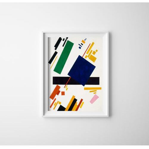 Plakat w stylu retro Plakat w stylu retro Suprematyzm Kompozycja Kazimierz Malewicz