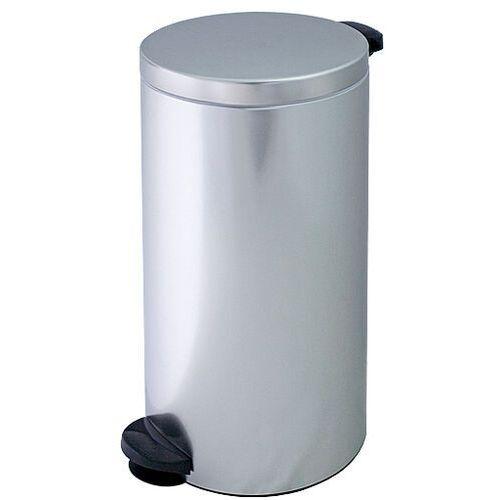 Kosz na śmieci metalowy 30 l z pedałem pojemnik na śmieci ze stali nierdzewnej marki Meliconi
