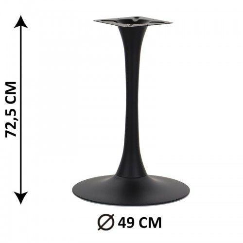 Podstawa stolika sh-9108-1/b, fi 49 cm, (stelaż stolika), kolor czarny marki Stema - sh