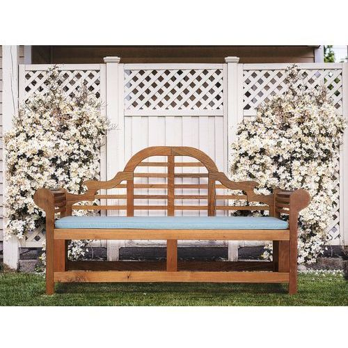 Ławka ogrodowa drewniana 180 cm poducha jasnoniebieska JAVA Marlboro (7105278884222)