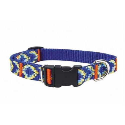 CHABA Obroża taśmowa regulowana ozdobna kolor: niebieski 16mm / 46cm - 16mm / 30cm (5905133603546)