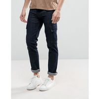 Loyalty and Faith Tapered Cargo Pants Trousers in Indigo Wash - Blue
