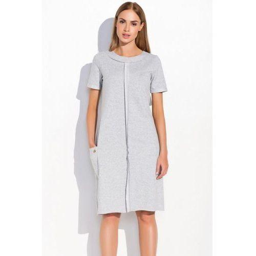 Sukienka model m288 grey melange, Makadamia