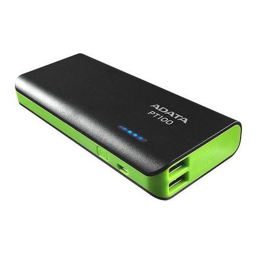Adata Powerbank pt100 (10000 mah) czarno-zielony