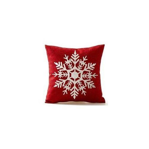 Świąteczna Poszewka na poduszkę Śnieżynka (5902557254521)