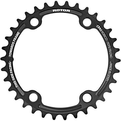 Rotor Aldhu Zębatka rowerowa 110x4 wew. okrągła czarny 34 zębów 2018 Zębatki przednie (8434366009445)