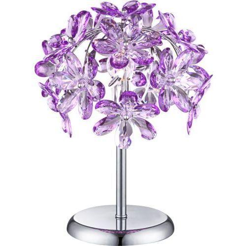 purple lampa stołowa chrom, 1-punktowy - nowoczesny - obszar wewnętrzny - purple - czas dostawy: od 4-8 dni roboczych marki Globo
