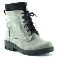 Buty zimowe dla dzieci marki Kornecki 06010, kolor szary