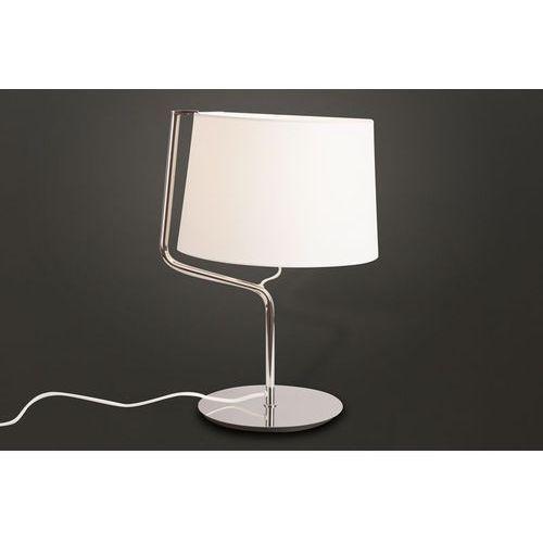 lampa stołowa CHICAGO biała- chrom, MAXLIGHT T0030
