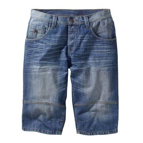 "Bonprix Bermudy dżinsowe ""loose fit"" niebieski ""medium bleached used"