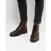 Fred Perry Northgate Scotchgrain Leather Boots in Brown - Brown