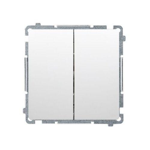 Kontakt - simon s.a. Łącznik schodowy kontakt-simon basic bmw6/2l.01/11 podwójny z podświetleniem led biały