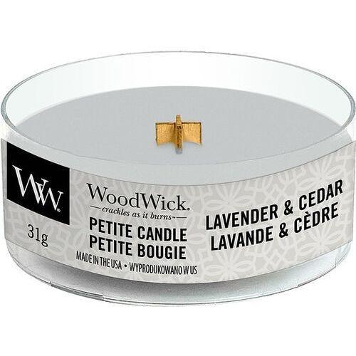 Woodwick Świeca petite lavender & cedar (5038581103211)