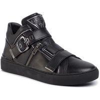 Sneakersy - kallen hi fm5klh lea12 black/silver marki Guess